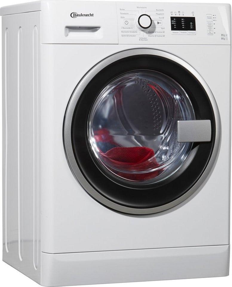 BAUKNECHT Waschtrockner WATK Prime 8614, A, 8 Kg / 6 Kg, 1.400 U