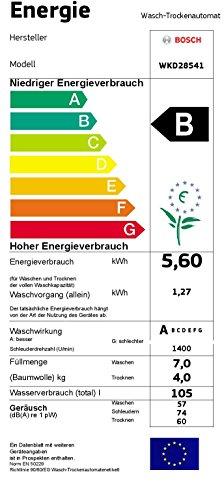 Bosch WKD28541 Waschtrockner / 1120 kWh / Bullauge mit Glasabdeckung / weiß