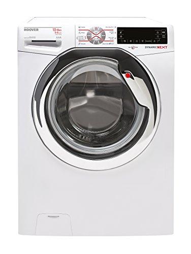 Hoover WDMT 4138 AH Waschtrockner / 1768 kWh / All In One 20 Grad Celcius Waschfunktion / weiß / chrom