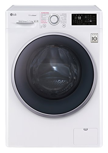 LG Electronics F 14WD 96EH1 Waschtrockner / A / 1224 kWh/Jahr / 1400 UpM / 9 kg / 11800 L / Aqua-Lock Vollwasserschutz / weiß