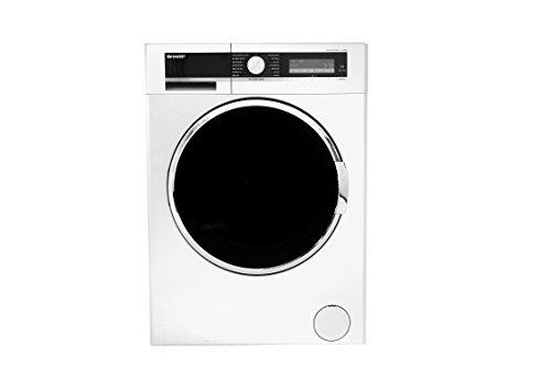 Sharp ES-GDD9144W0-DE Waschtrockner / 1400 UpM/ 9 kg Waschen und 6 kg Trocknen / weiß / mit extra großer Tür für leichtes Befüllen / Allergy Smart-Programme / Quick wash & Dry / Active Jet / Aquastopschlauch