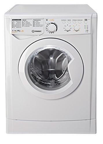 Indesit EWDC 6145 W DE Waschtrockner/972 kWh/kg/MyTime: Täglich-Schnell-Programme unter 1 Stunde/Aquastopp/weiß