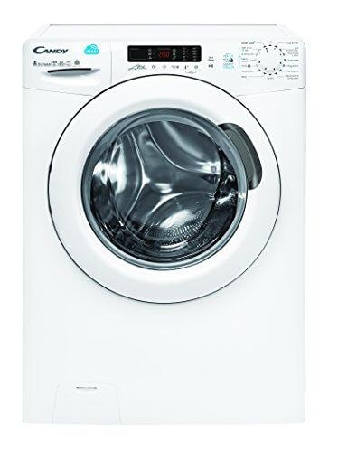 Candy CSW G485D Waschtrockner / a / 1088 kWh/Jahr / 1400 UpM / 8 kg / 12000 L / jahr / Waschen und Trocknen in nur 59 min / App-steuerbar dank NFC-Technologie / weiß