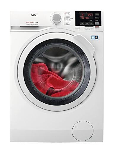 AEG L7WB65684 Waschtrockner/1600UpM/8kg ProTex Schontrommel/Weiß/Waschtrockner mit Material- und Mengenautomatik/Dampfprogramm für weniger Bügelaufwand/Öko Inverter Motor/180 kWh pro Jahr