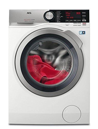 AEG L8WE86605 Waschtrockner Frontlader / Waschmaschine (10 kg) und Trockner (6 kg) mit Schontrommel für edle Stoffe / freistehender Waschautomat und Wäschetrockner mit Material- und Mengenautomatik / Energieklasse A (1340 kWh/Jahr) / weiß