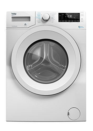 Beko WDW 85140 Waschtrockner/1088 kWh/8 kg Waschen/5 kg Trocknen/weiß/Aquawave-Schontrommel/Mengenautomatik/Watersafe