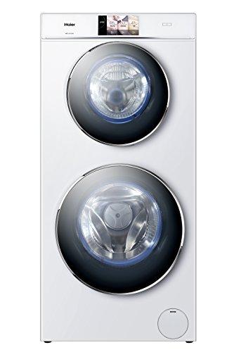 Haier HWD120-B1558U Waschtrockner/A/1628 kWh/Jahr/1500 UpM/12kg/12800 L/jahr/2 Trommeln/Direct Motion Motor/Weiß