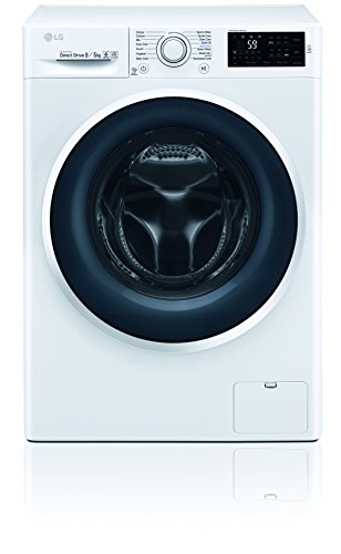 LG Electronics F 14WD 85EN0 Waschtrockner/A/1078 kWh/Jahr/1400 UpM/8 Kg/11200 liter/jahr/Digitaldisplay mit Restzeitanzeige/weiß
