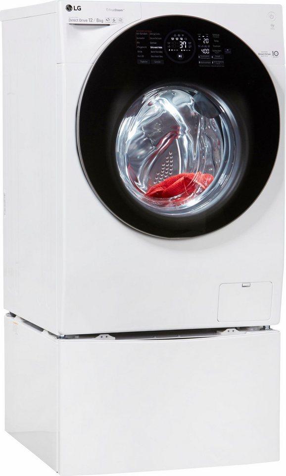 LG Waschtrockner F 6WD 128TWIN = F 16WD 128GH + T 7WM 2Mini, A, 12 kg / 8 kg, 1.600 U/Min