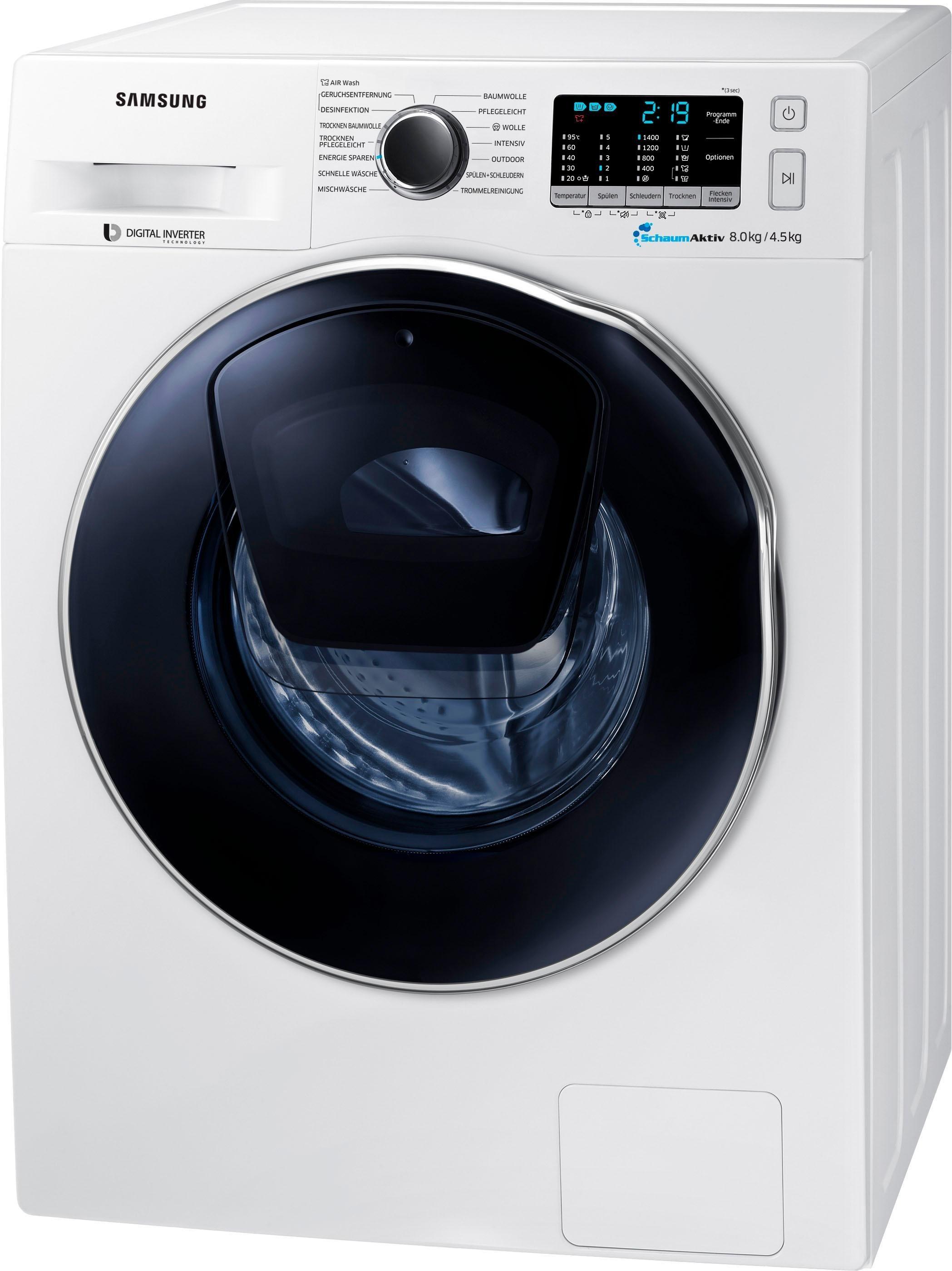 Samsung Waschtrockner WD5500 WD8EK5A00OW/EG, 8 kg/4,5 kg, 1400 U/Min, AddWash