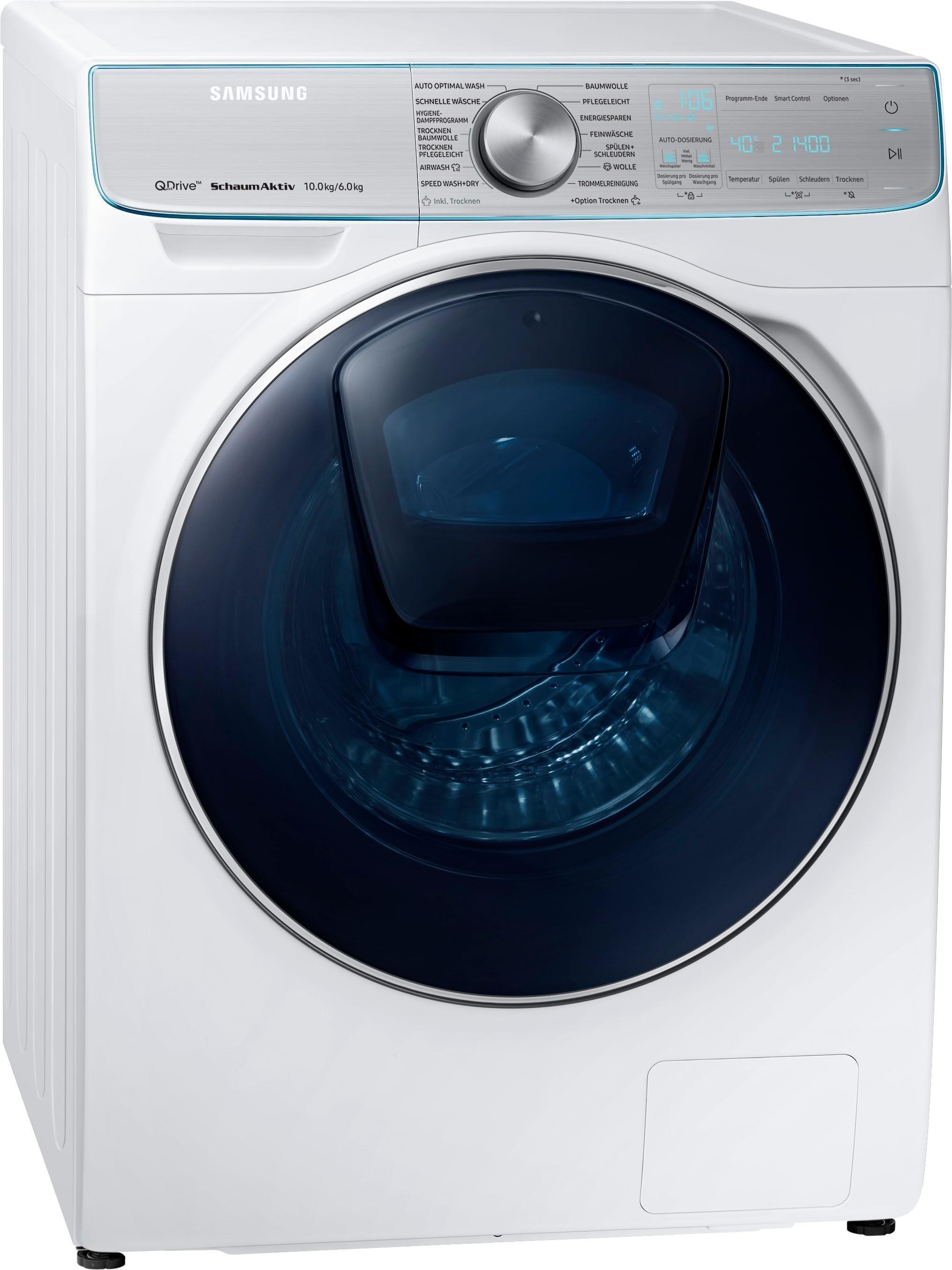 Samsung Waschtrockner WD8800 QuickDrive WD10N84INOA/EG, 10 kg/6 kg, 1400 U/Min, AddWash