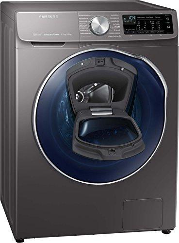Samsung WD6800 WD80N642OOX/EG QuickDrive Waschtrockner/a/22400 kWh/Jahr/1400 UpM/8 kg/9600 L/jahr/4 kg Waschen und Trocknen in NUR 3 Stunden/AddWash/Inox