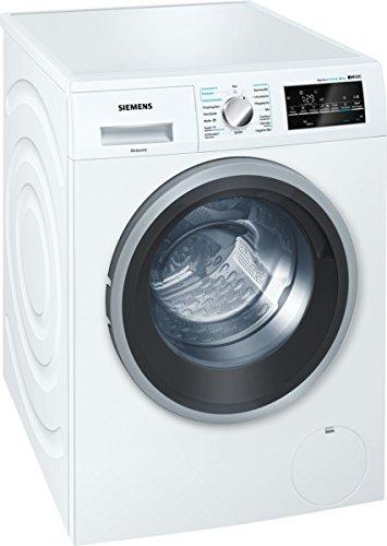 Siemens WD15G442 iQ500 Waschtrockner/A+++ D/1088 kWh/81 kg/8 kg Waschen/5 kg Trocknen/Weiß/Großes Display mit Endezeitvorwahl [Altes Modell]