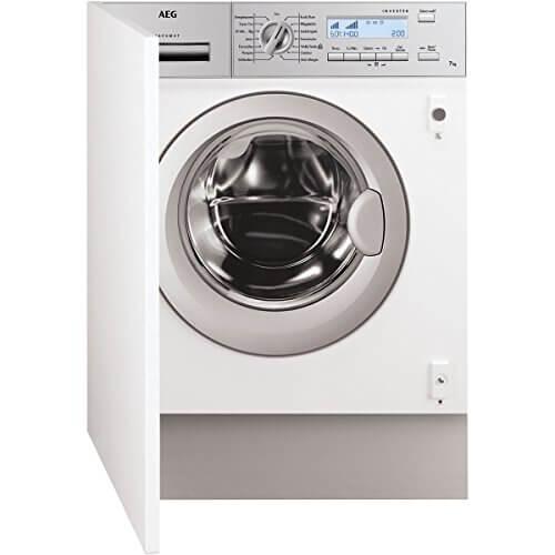 AEG L82470BI Waschmaschine Frontlader/Energieklasse A+++ (169,0 kWh/Jahr)/vollintegrierbare Waschmaschine mit 7 kg Trommel/sparsamer Waschautomat mit leisem Invertermotor/weiß