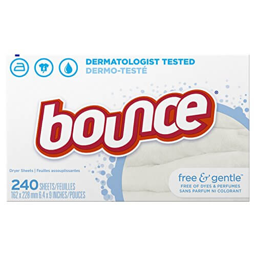 Bounce Free & Gentle - dryer sheets, 240 Trocknertücher (für sensible Haut) USA