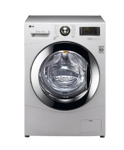 LG F1494QD Frontlader Waschmaschine/A+++/7 kg/171 kWh/Jahr/10000 Liters/Jahr/1400 UpM/Inverter Direct Drive/Aqua Lock/Smart Diagnosis/weiß