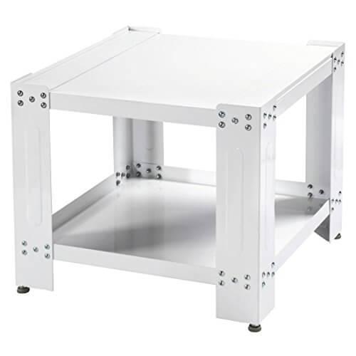 Xavax Waschmaschinen Untergestell (60x60 cm, 50 cm Erhöhung, Stabiler Unterbau-Sockel mit mit Bodenfach, Höhenverstellbare Füße, Waschmaschinen-/Trockner-Podest) Weiß