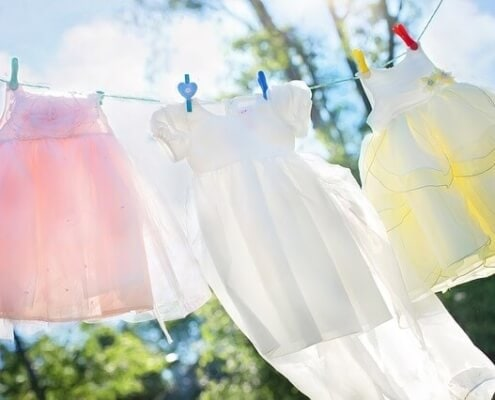 Formverlust verhindern beim waschen von wäsche