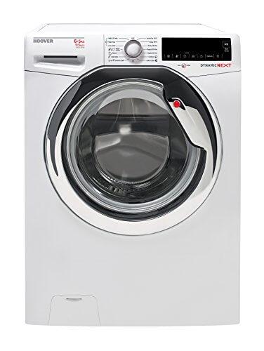Hoover WDXA 42365 Waschtrockner / 970 kWh/Waschen und Trocknen in 59 Minuten/weiß / chrom