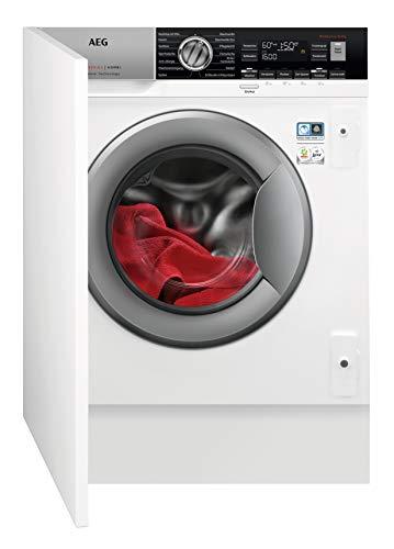AEG L7WEI7680 Waschtrockner Frontlader / Waschmaschine (8 kg) mit Trockner (4 kg) / vollintegrierbare Einbauwaschmaschine mit Wäschetrockner / Kindersicherung und AquaControl / weiß