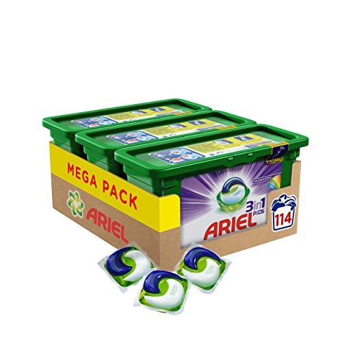 Ariel 3in1 PODS Colorwaschmittel, 114 Waschladungen (1 x 3 x 38 Waschladungen)