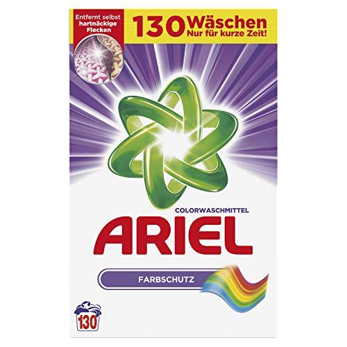 Ariel Vollwaschmittel Pulver Colorwaschmittel 8kg, 1er Pack (1 x 130 Waschladungen)