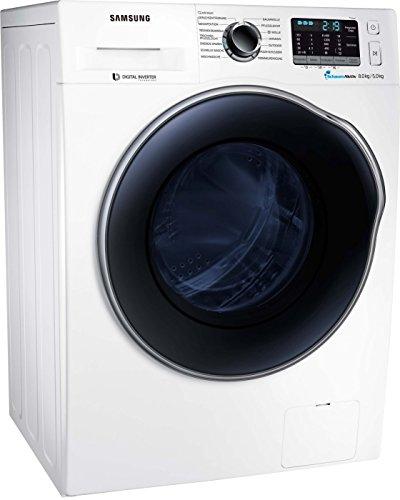 Samsung WD5000 WD80J5A00AW/EG Waschtrockner/a/17600 kWh/Jahr/1400 UpM/8 kg/9600 L/jahr/SchaumAktiv/AirWash/Weiß