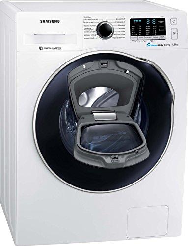 Samsung WD5500 WD81K5A00OW/EG AddWash Waschtrockner/a/17600 kWh/Jahr/1400 UpM/8 kg/9600 L/jahr/SchaumAktiv/AirWash/Weiß