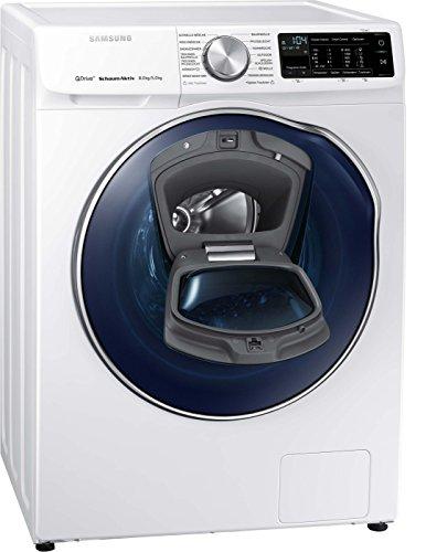 Samsung WD6800 WD81N642OOW/EG QuickDrive Waschtrockner/a/22400 kWh/Jahr/1400UpM/8 kg/9600 L/jahr/4 kg Waschen und Trocknen in NUR 3 Stunden/AddWash/Weiß/Amazon Dash Replenishment fähig