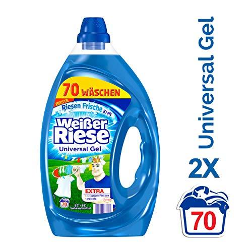 Weißer Riese Universal Gel, Vollwaschmittel, 2er Pack (2 x 70 Waschladungen)