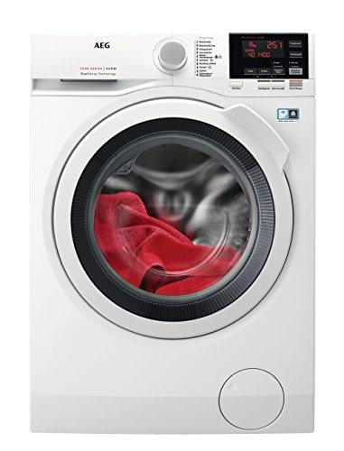 AEG L7WB65680 Waschtrockner Frontlader / Waschmaschine (8,0 kg) mit Trockner (4,0 kg) / 1600UpM / sparsamer Waschautomat und Wäschetrockner mit Material- und Mengenautomatik / A (1070 kWh/Jahr) / weiß