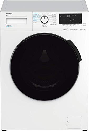 Beko WDW75141Steam1 Waschtrockner/ Wasserkondensation/ schwarze XL-Tür/ Bluetooth/ Dampffunktion/ Nachlegefunktion/ Watersafe/ 7 kg Waschen, 4 kg Trocknen