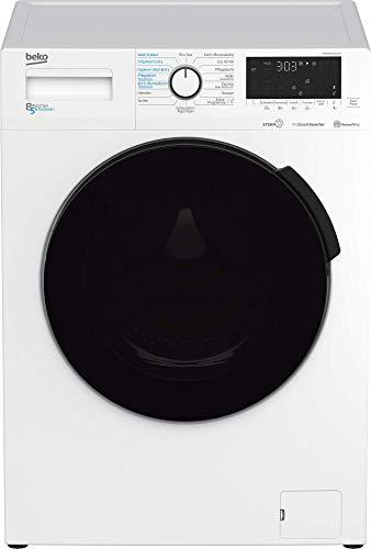 Beko WDW85141Steam1 Waschtrockner/ Touch-Display mit Startzeitvorwahl 0-24 h/ Wasserkondensation/ Bluetooth/ Dampffunktion/ Nachlegefunktion/ 8 kg Waschen, 5 kg Trocknen